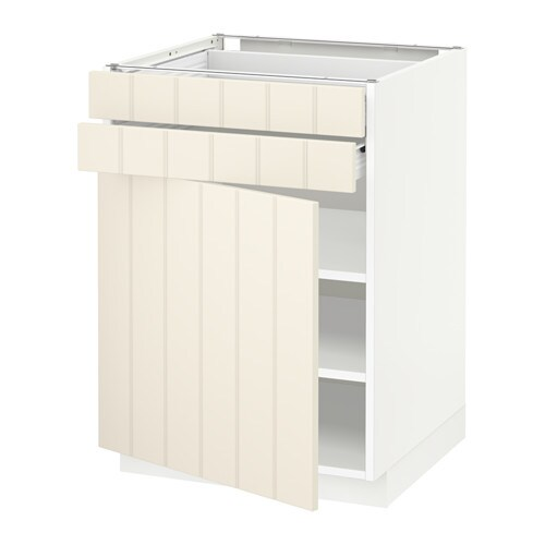 metod f rvara base cabinet w door 2 drawers white hittarp off white 60x60 cm ikea. Black Bedroom Furniture Sets. Home Design Ideas