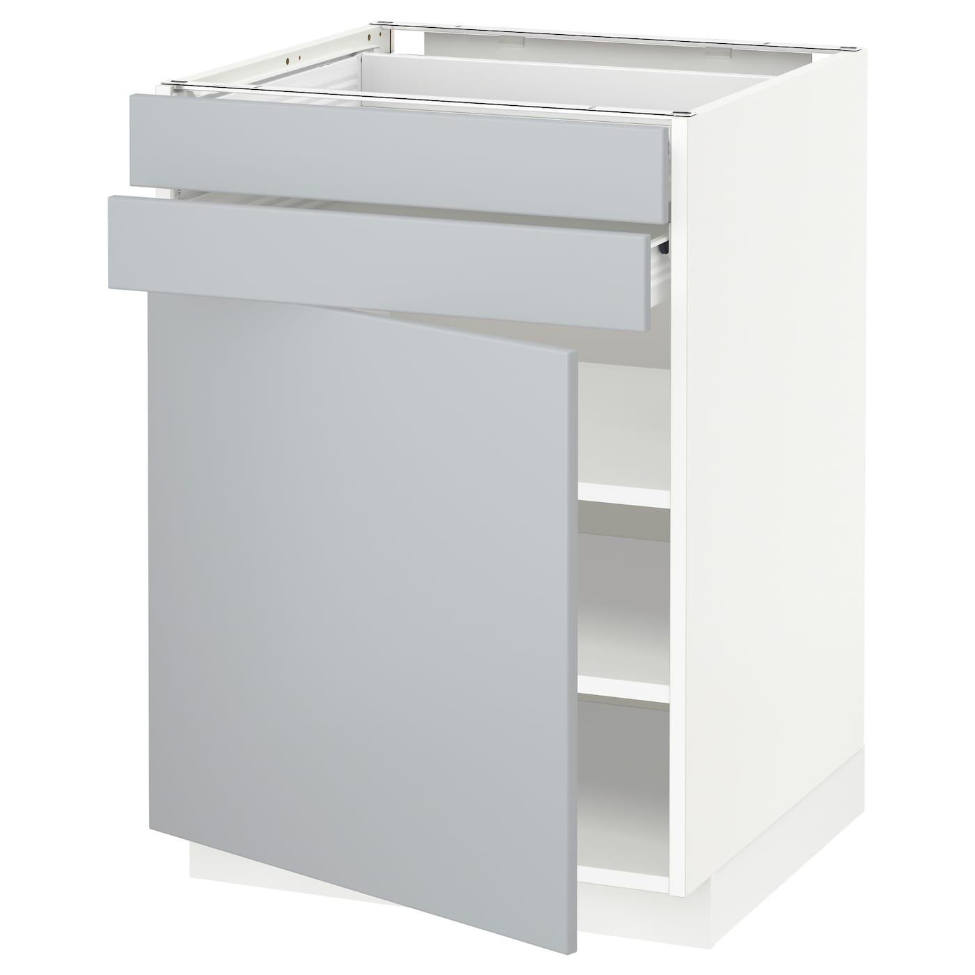 Ikea Kitchen Veddinge White: METOD/FÖRVARA Base Cabinet W Door/2 Drawers White/veddinge