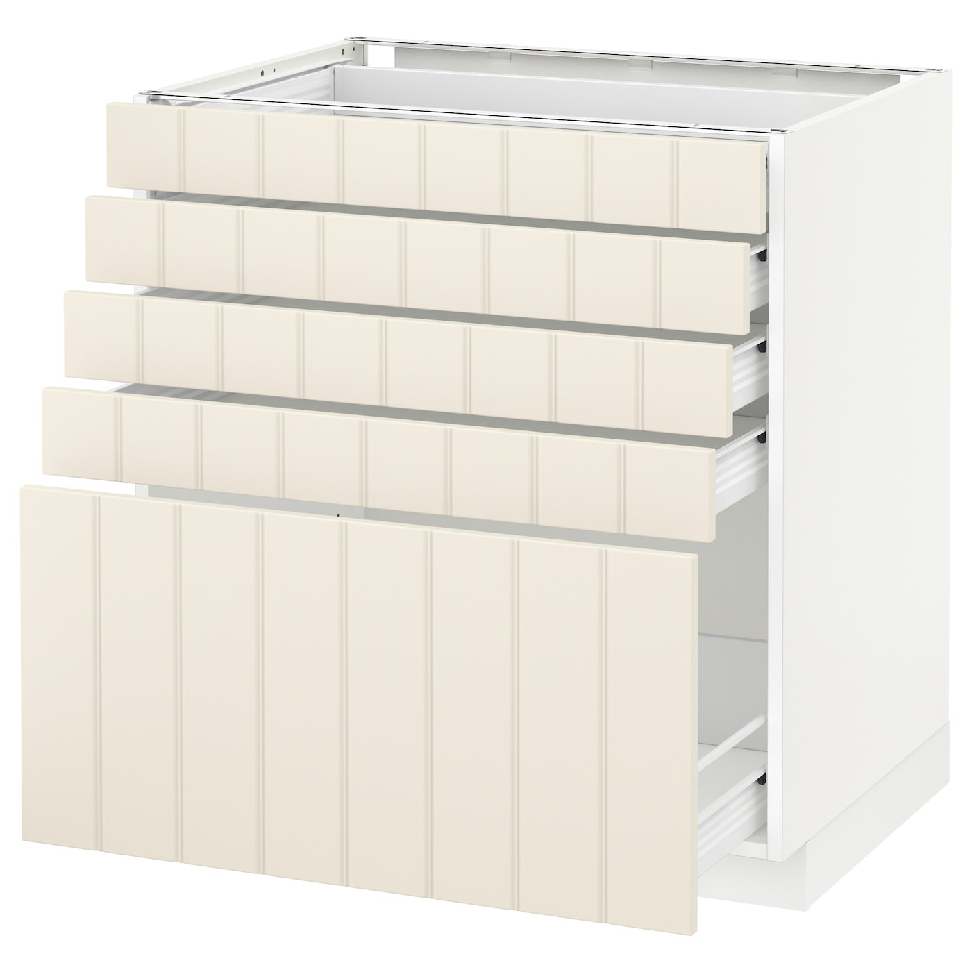 IKEA METOD/FÖRVARA base cabinet with 5 drawers Sturdy frame construction, 18 mm thick.