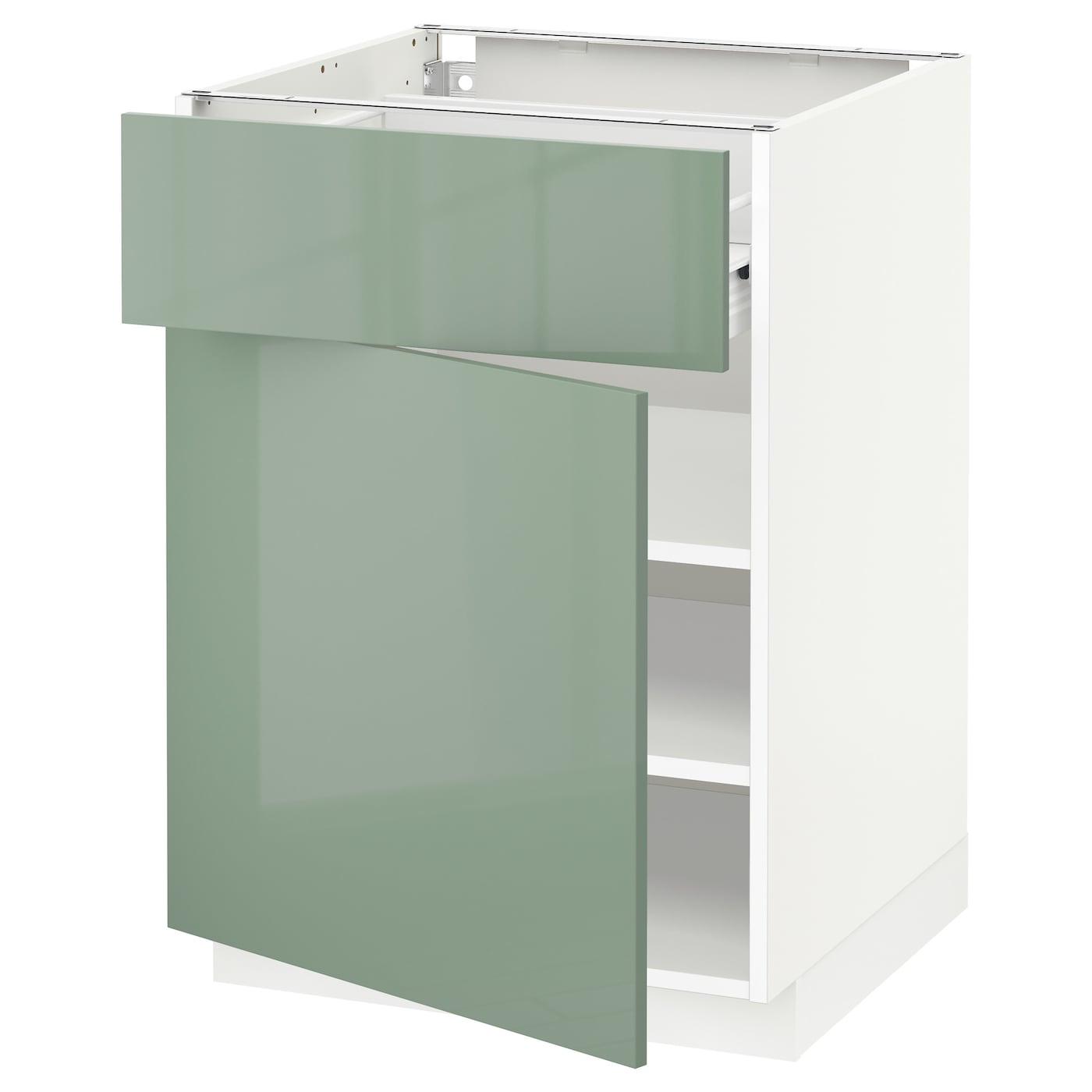 Metod f rvara base cabinet with drawer door white kallarp Kitchen cabinets light green