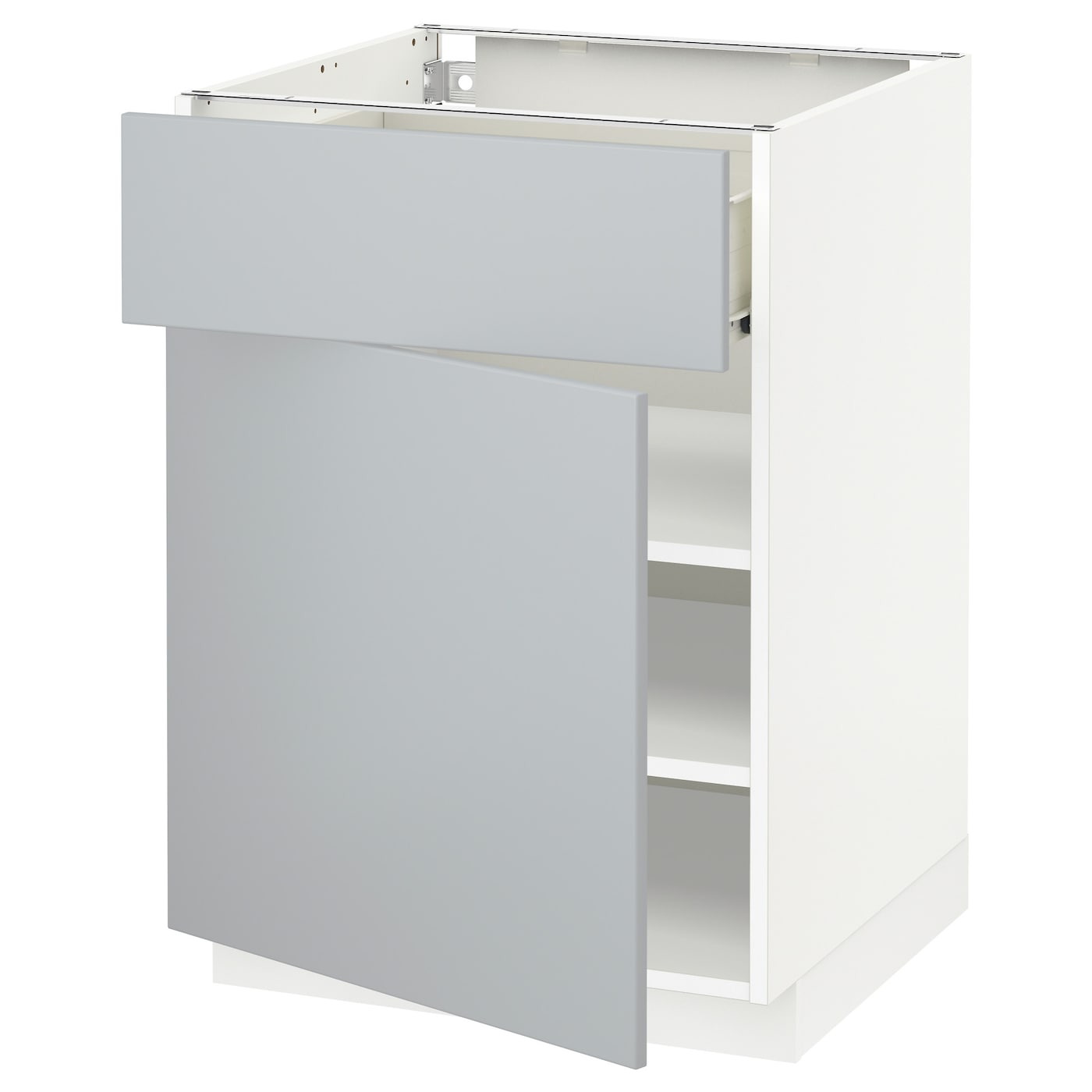 metod f rvara base cabinet with drawer door white veddinge grey 60x60 cm ikea. Black Bedroom Furniture Sets. Home Design Ideas