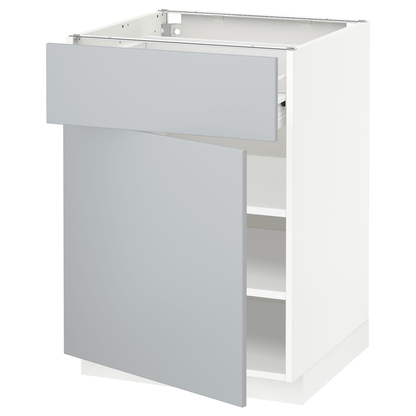 ikea bathroom cabinet doors metod f 214 rvara base cabinet with drawer door white veddinge 17521