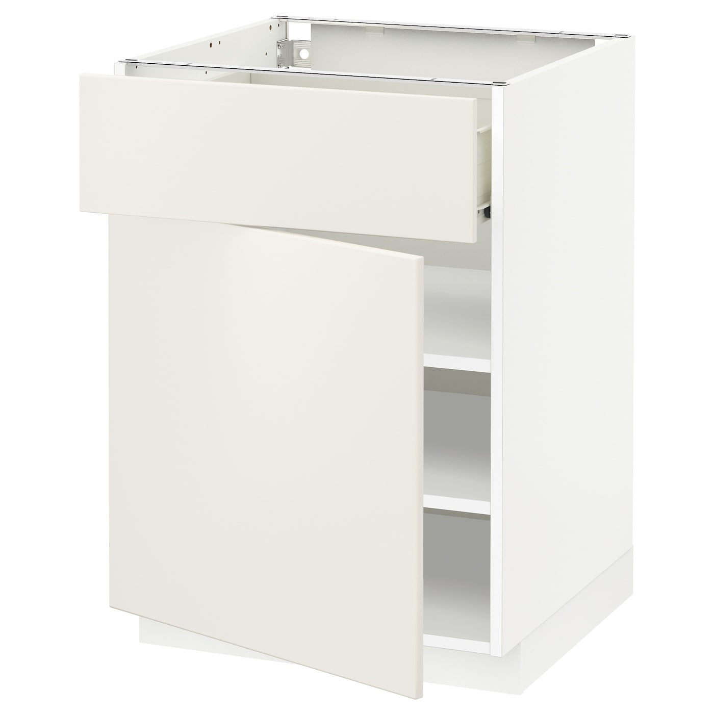 Ikea Kitchen Veddinge White: METOD/FÖRVARA Base Cabinet With Drawer/door White/veddinge