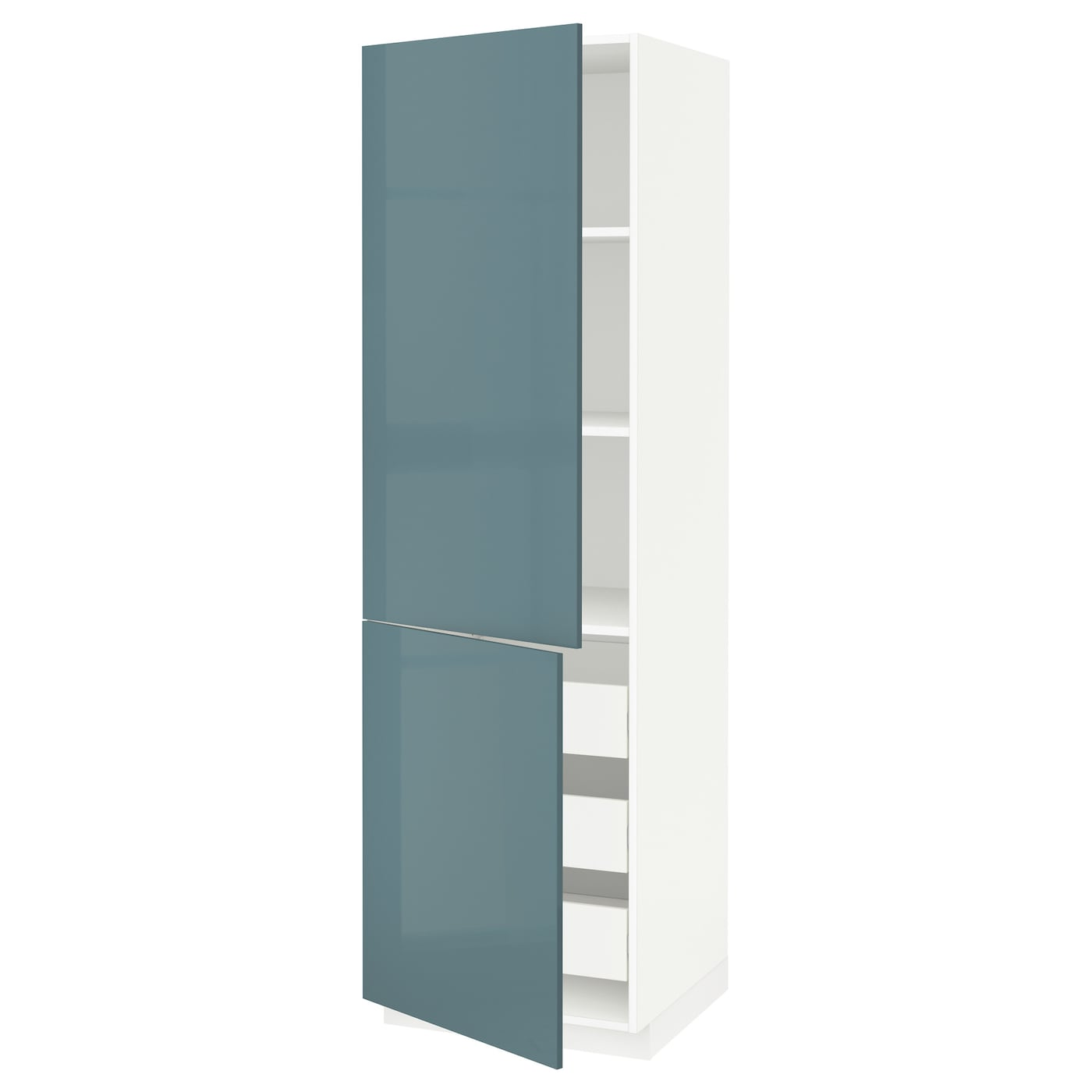 IKEA METOD/FÖRVARA hi cab w shlvs/3 drawers/2 doors Sturdy frame construction, 18 mm thick.