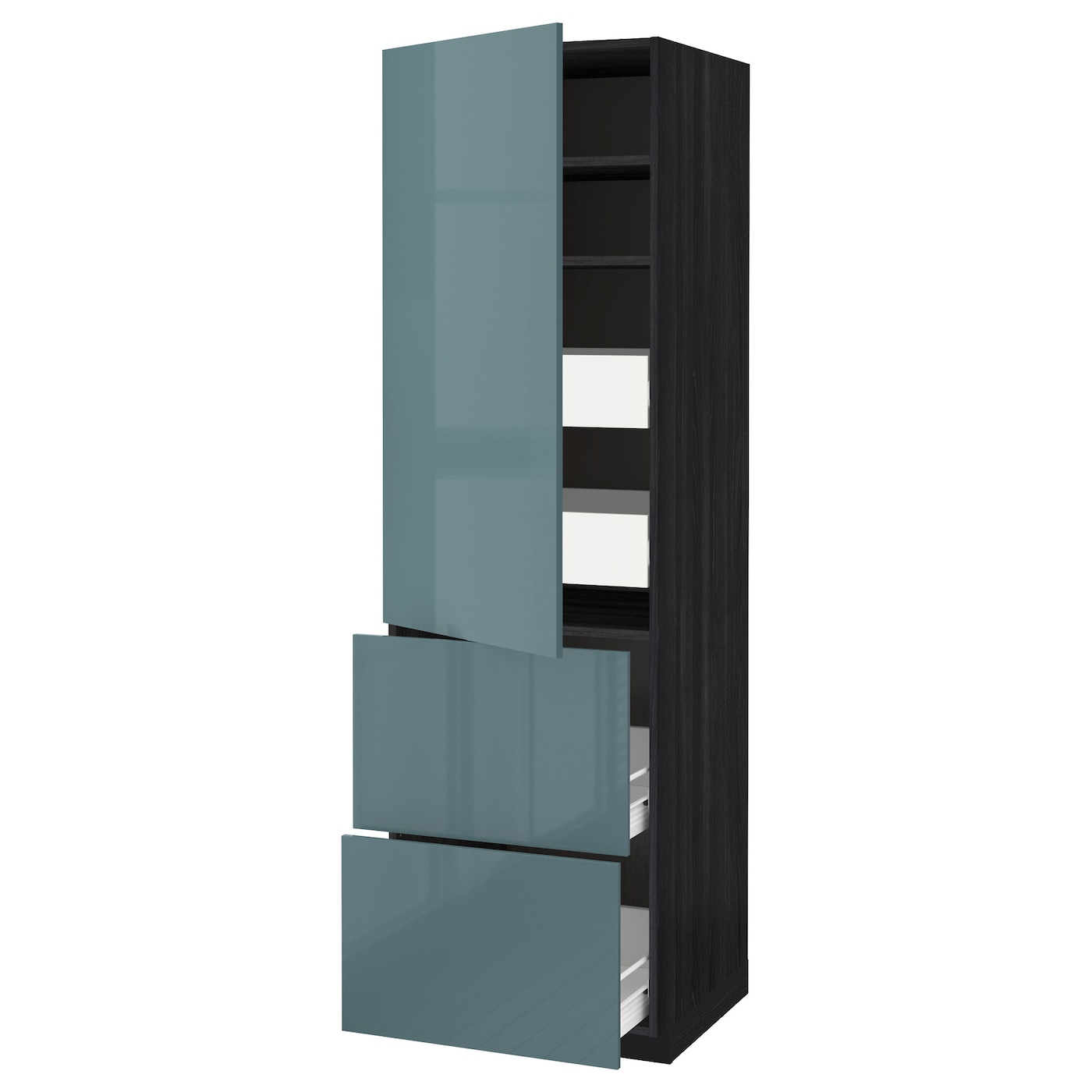 IKEA METOD/FÖRVARA hi cab w shlvs/4 drawers/dr/2 frnts Sturdy frame construction, 18 mm thick.