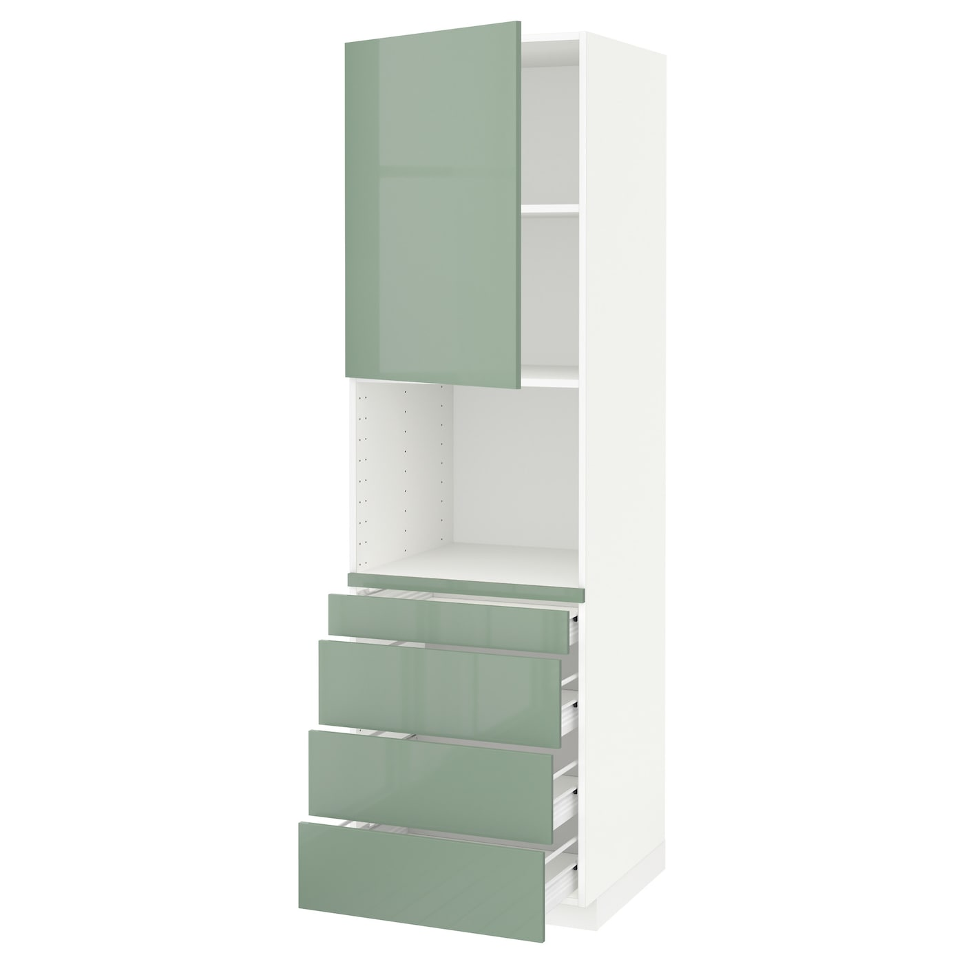 IKEA METOD/FÖRVARA high cab for combi micro/4 drawers Sturdy frame construction, 18 mm thick.