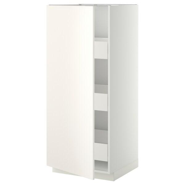 METOD / FÖRVARA high cabinet with drawers white/Veddinge white 60.0 cm 61.6 cm 148.0 cm 60.0 cm 140.0 cm