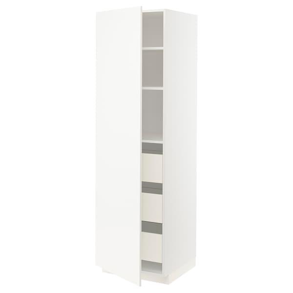 METOD / FÖRVARA high cabinet with drawers white/Veddinge white 60.0 cm 61.6 cm 208.0 cm 60.0 cm 200.0 cm