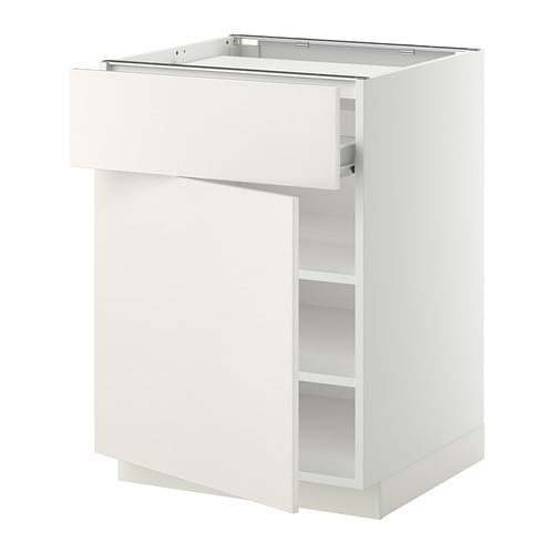 METOD  FÖRVARA Base cab f hob drawer shelves door  white