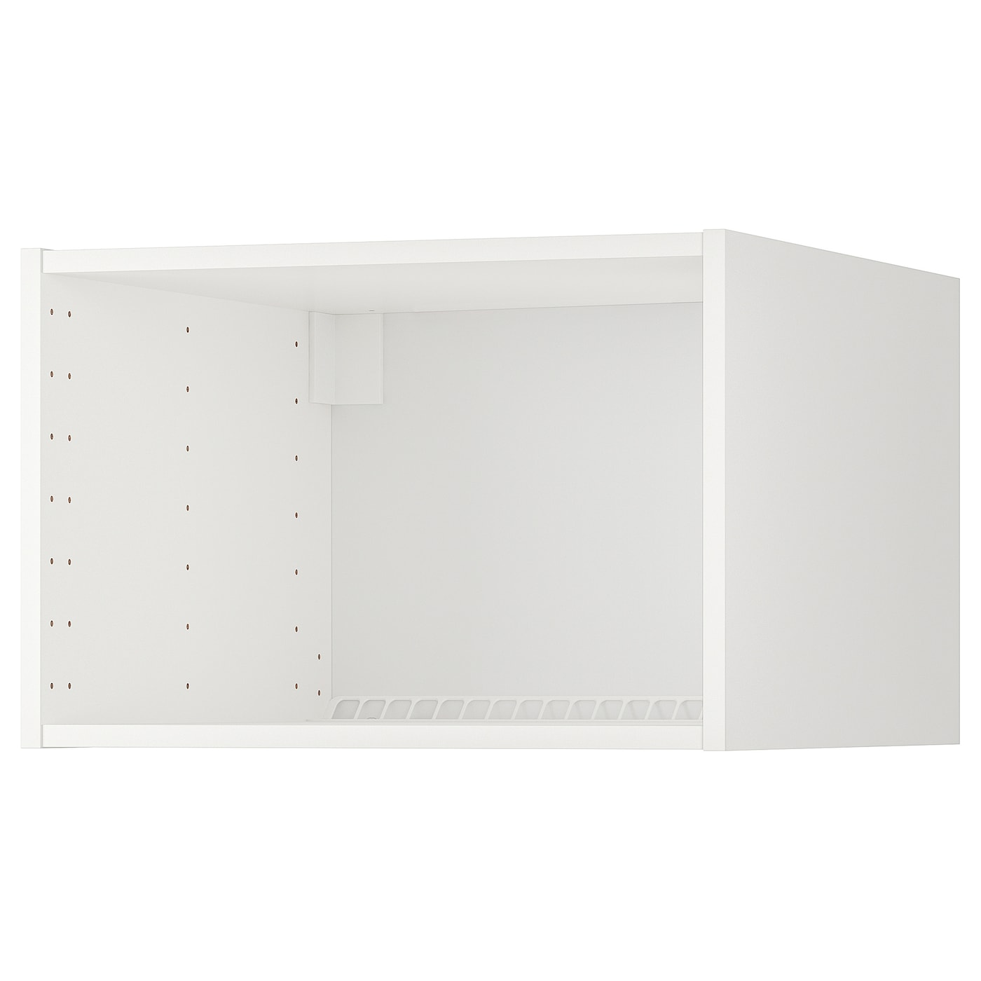 IKEA METOD fridge/freezer top cabinet frame An air duct gives good ventilation.