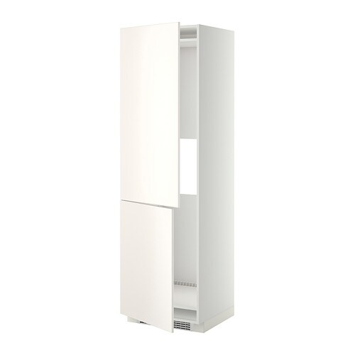 METOD Hi cab f fridge or freezer w 2 drs IKEA You can customise spacing as you need, because the shelf is adjustable.