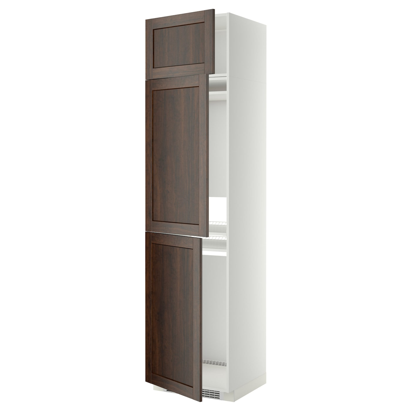 Metod high cab f fridge freezer w 3 doors white edserum brown 60x60x240 cm - Ikea kitchenette frigo ...