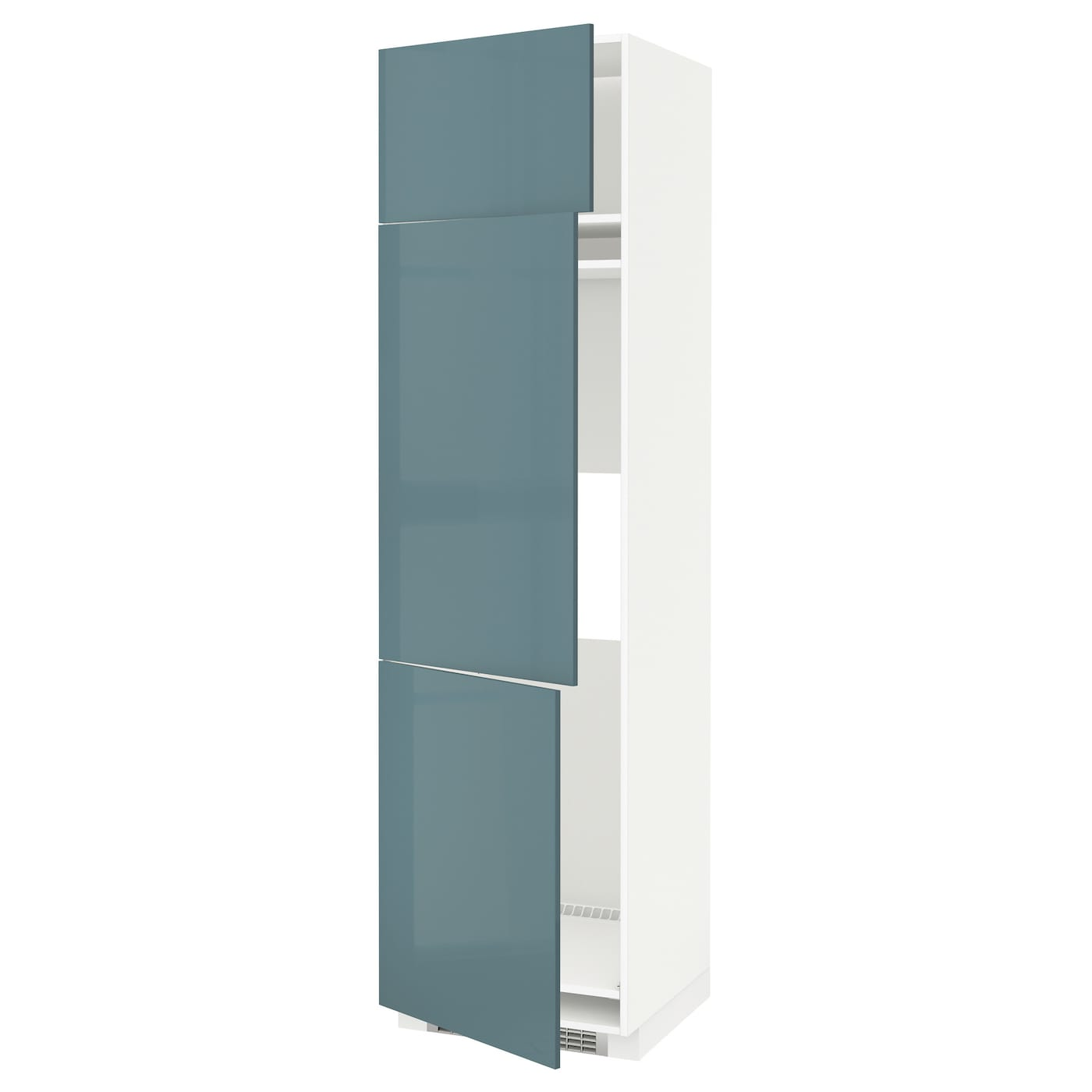 IKEA METOD high cab f fridge/freezer w 3 doors Sturdy frame construction, 18 mm thick.