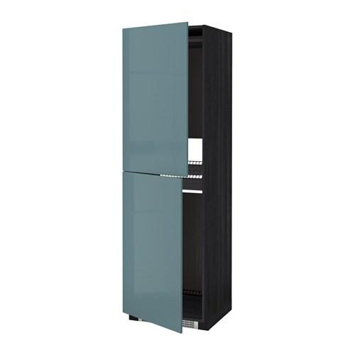Metod High Cabinet For Fridge Freezer Black Kallarp Grey Turquoise