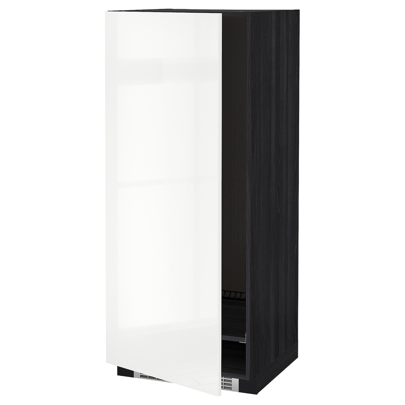 METOD High cabinet for fridge/freezer Black/ringhult white 60 x 60 x ...