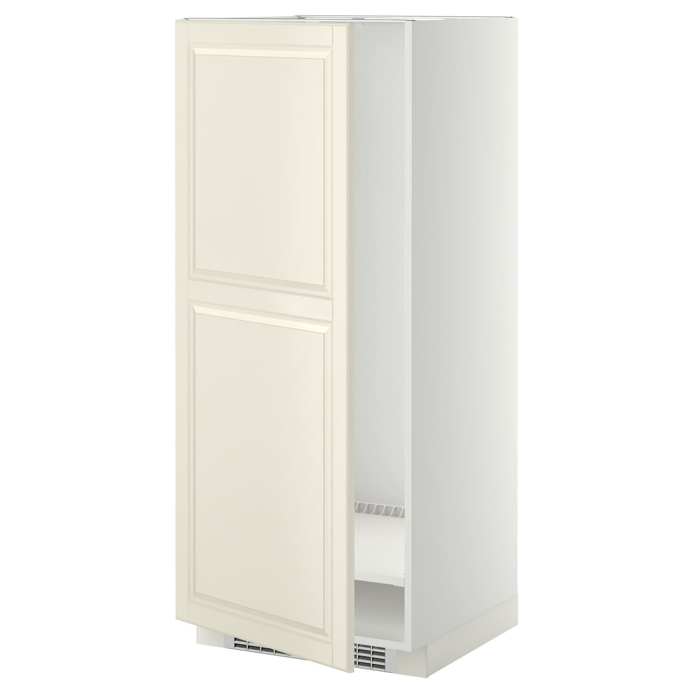 Metod high cabinet for fridge freezer white bodbyn off for Ikea fridge cabinet