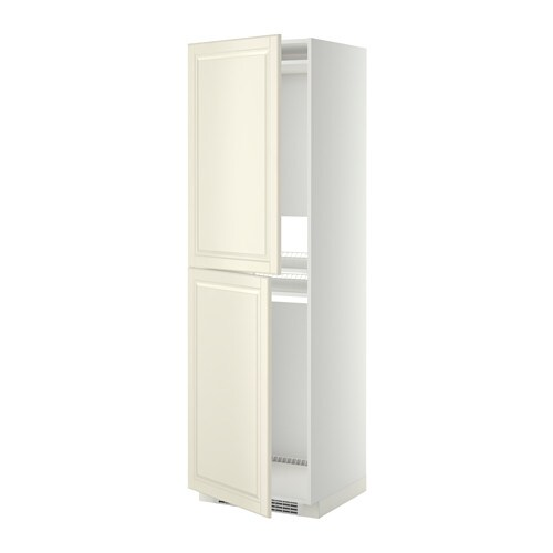 Metod high cabinet for fridge freezer white bodbyn off for Ikea chest freezer