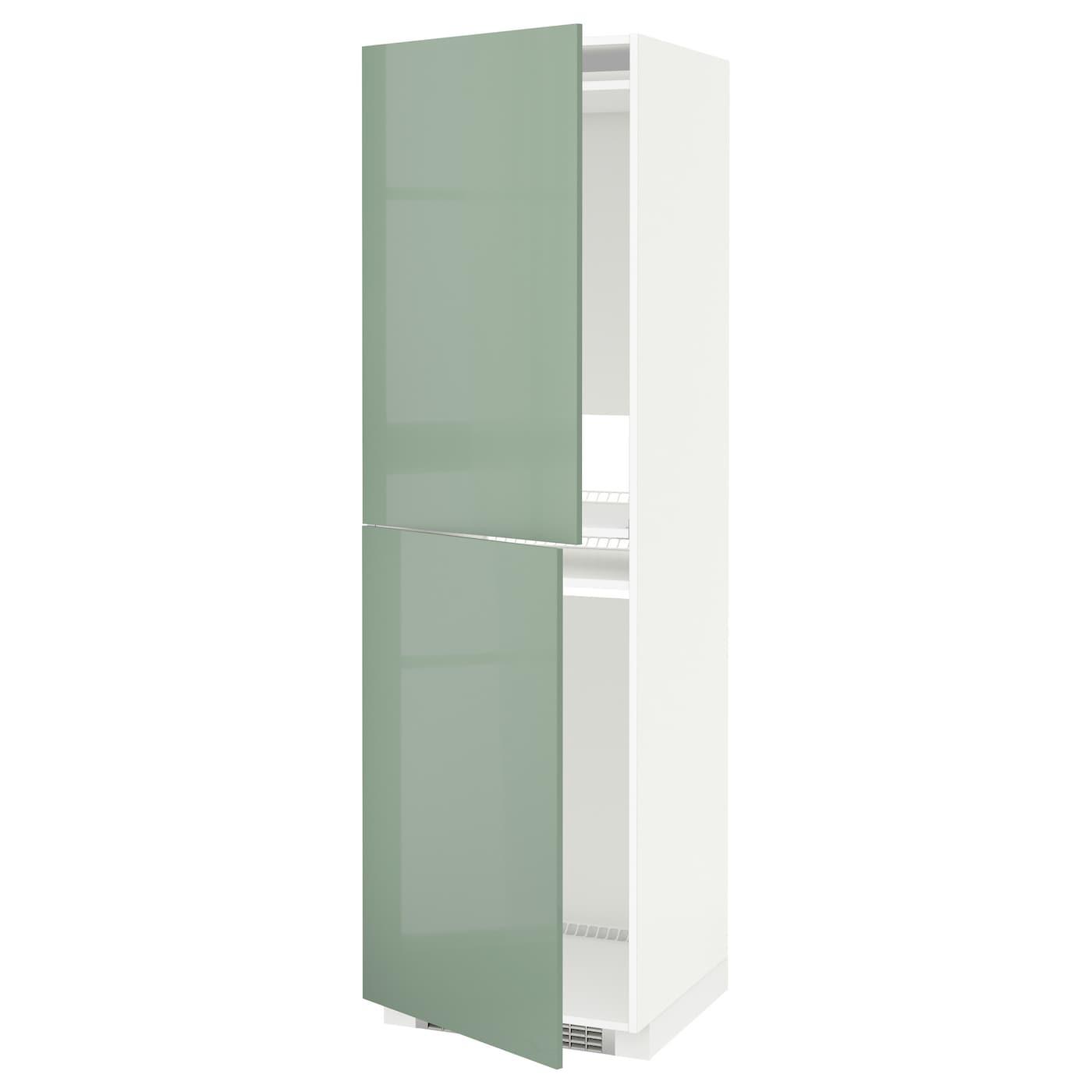 Metod high cabinet for fridge freezer white kallarp light - Ikea kitchenette frigo ...