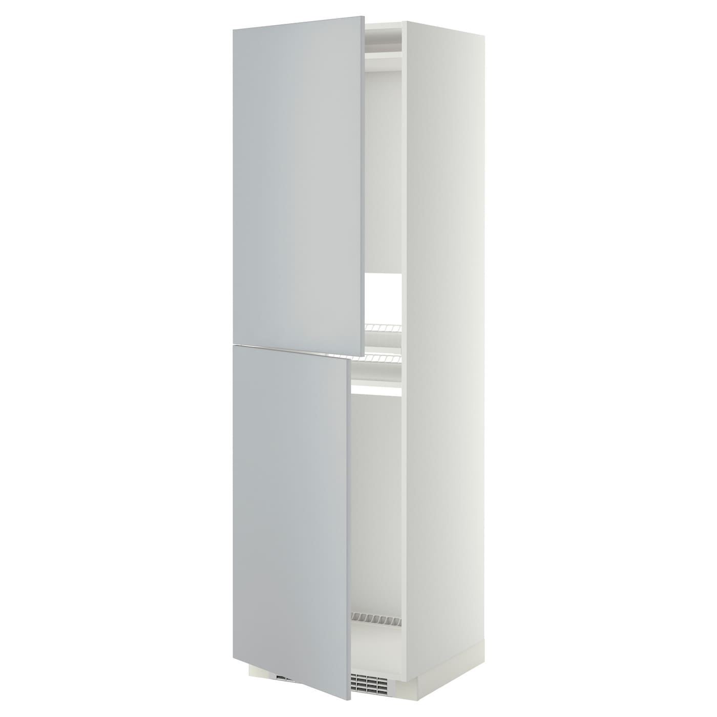 metod high cabinet for fridge freezer white veddinge grey 60 x 60 x 200 cm ikea. Black Bedroom Furniture Sets. Home Design Ideas