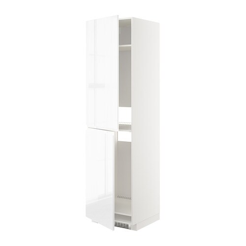 Metod high cabinet for fridge freezer white voxtorp high for Ikea chest freezer