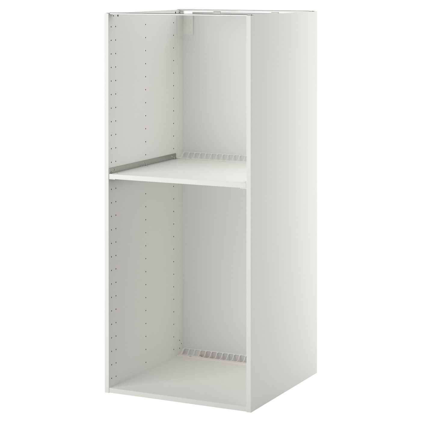 Metod high cabinet frame for fridge oven white 60x60x140 for Ikea fridge cabinet
