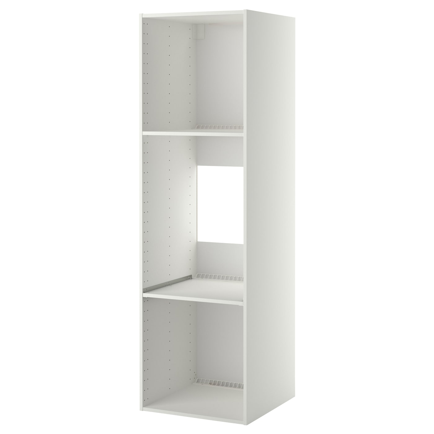 Metod high cabinet frame for fridge oven white 60x60x200 - Meuble pour lave vaisselle ikea ...