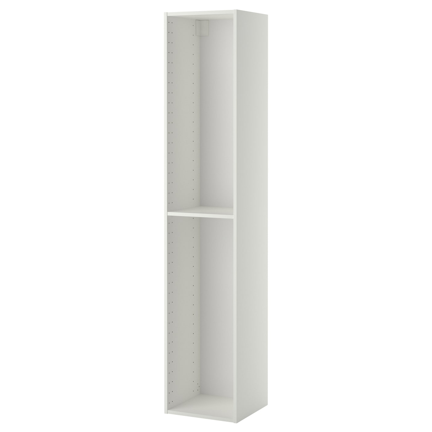 metod high cabinet frame white 40 x 37 x 200 cm ikea. Black Bedroom Furniture Sets. Home Design Ideas