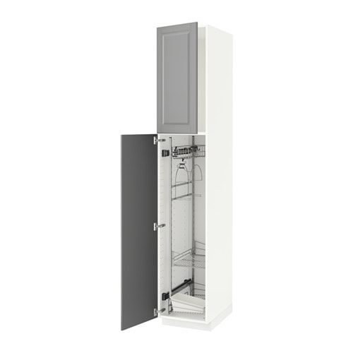 METOD High Cabinet With Cleaning Interior White/bodbyn