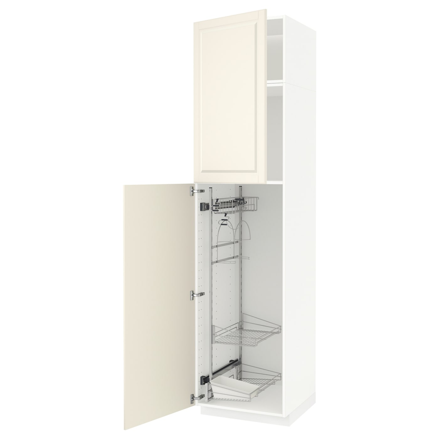 METOD High Cabinet With Cleaning Interior White/bodbyn Off