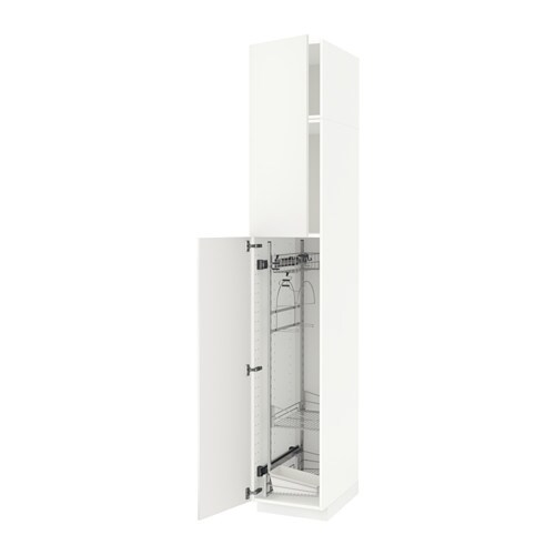 metod high cabinet with cleaning interior white h 228 ggeby