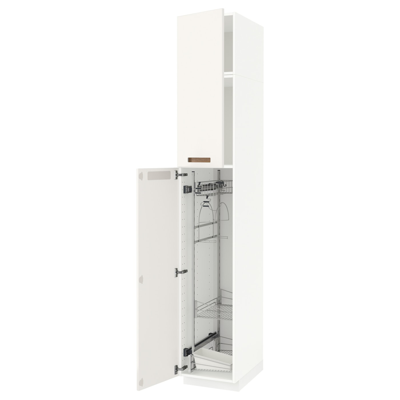 Metod high cabinet with cleaning interior white m rsta white 40x60x240 cm ikea - Cleaning inside kitchen cabinets ...