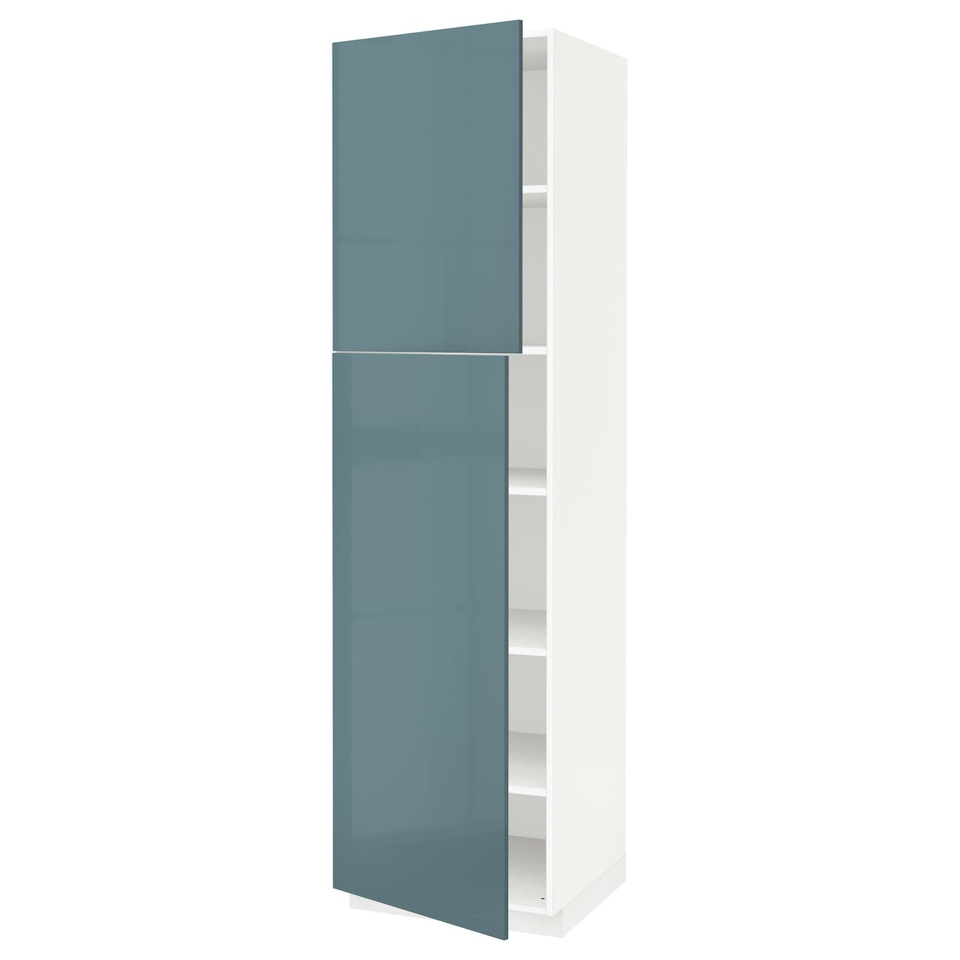 metod high cabinet with shelves 2 doors white kallarp grey. Black Bedroom Furniture Sets. Home Design Ideas