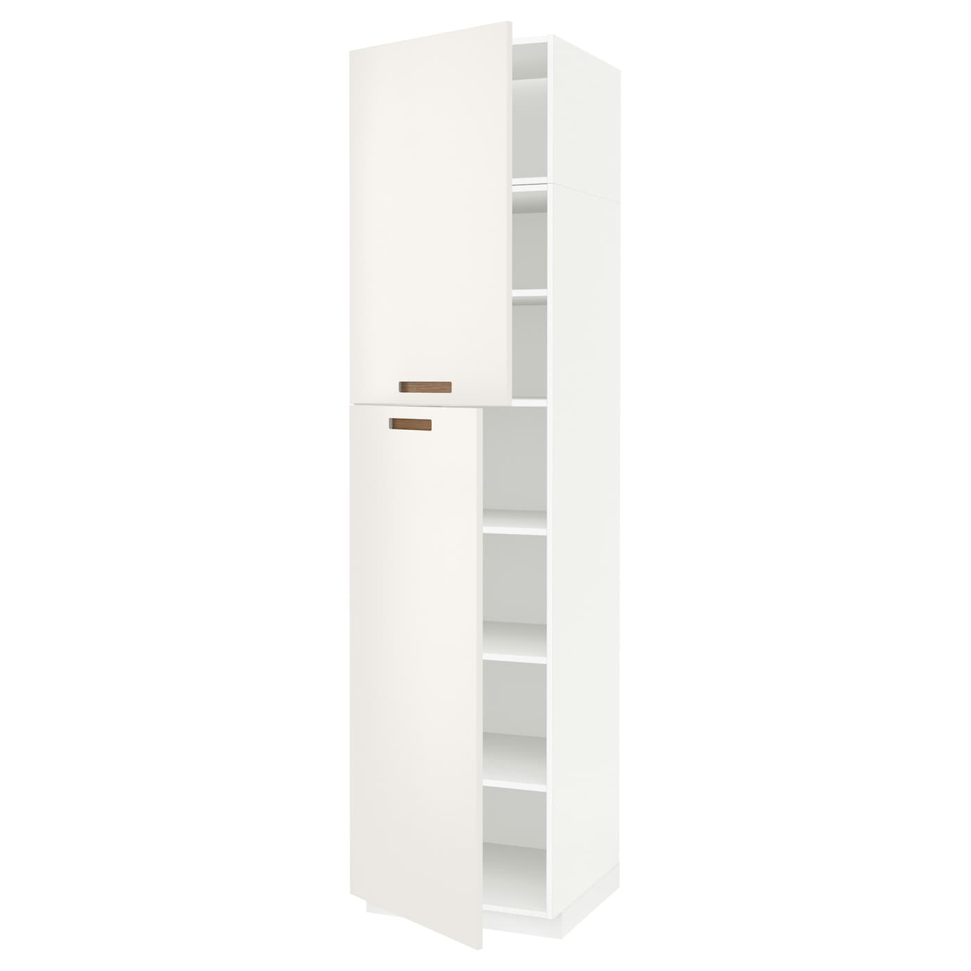 metod high cabinet with shelves 2 doors white m rsta white. Black Bedroom Furniture Sets. Home Design Ideas