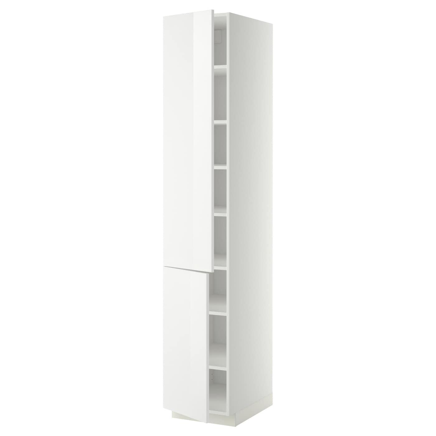 Metod high cabinet with shelves 2 doors white ringhult - Ikea mueble de cocina ...