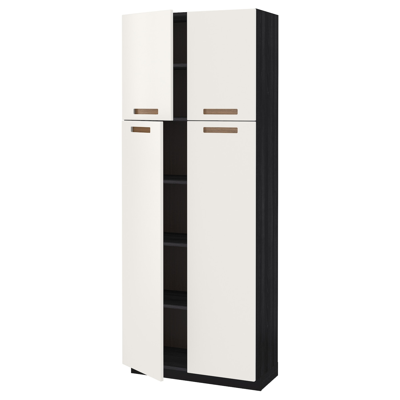 metod high cabinet with shelves 4 doors black m rsta white. Black Bedroom Furniture Sets. Home Design Ideas