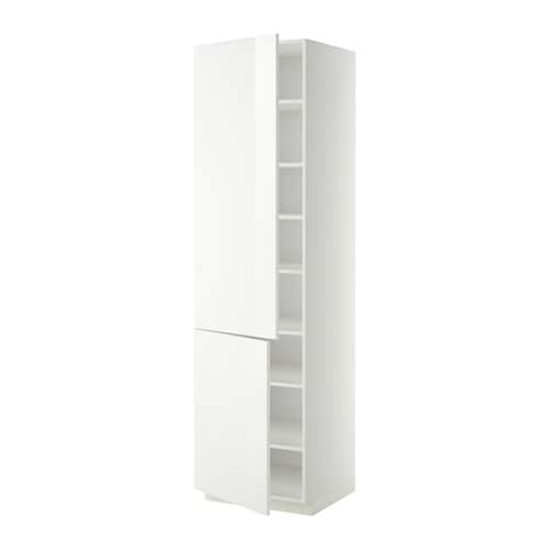 Metod High Cabinet With Shelves 2 Doors White Ringhult