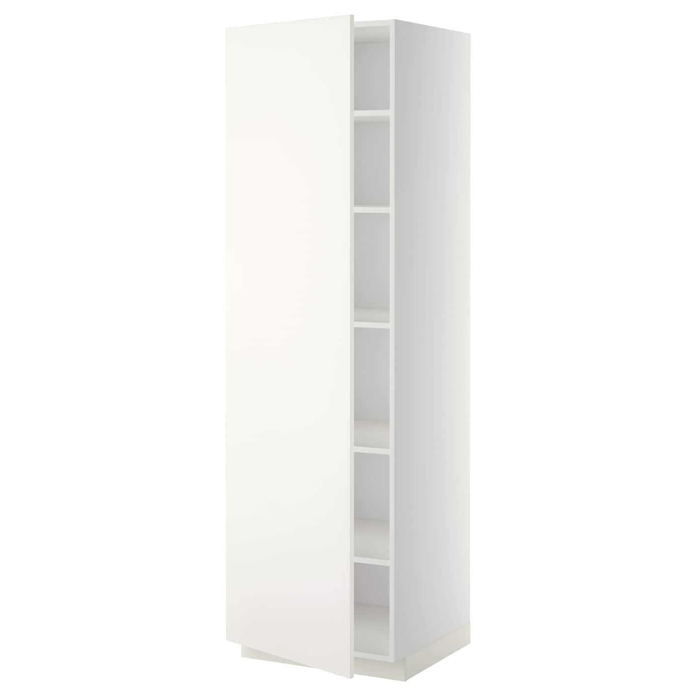 Metod High Cabinet With Shelves White H Ggeby White 60x60x200 Cm Ikea