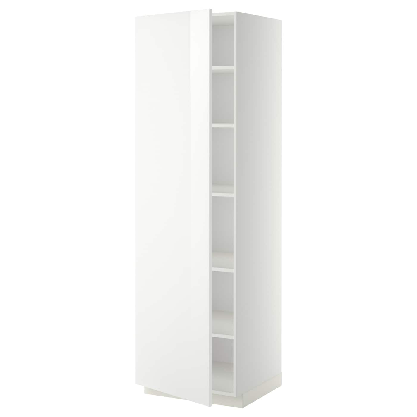 metod high cabinet with shelves white ringhult white 60 x 60 x 200 cm ikea. Black Bedroom Furniture Sets. Home Design Ideas