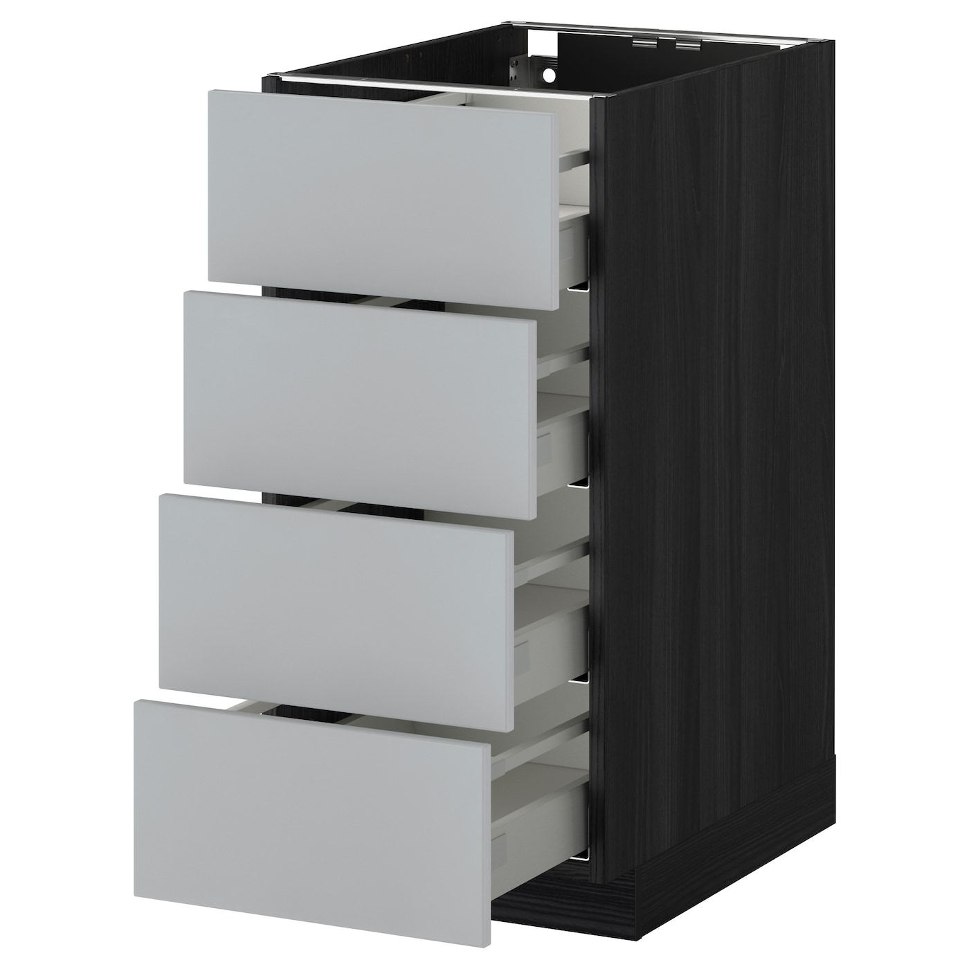 IKEA METOD/MAXIMERA base cab 4 frnts/4 drawers Smooth-running drawers with stop.