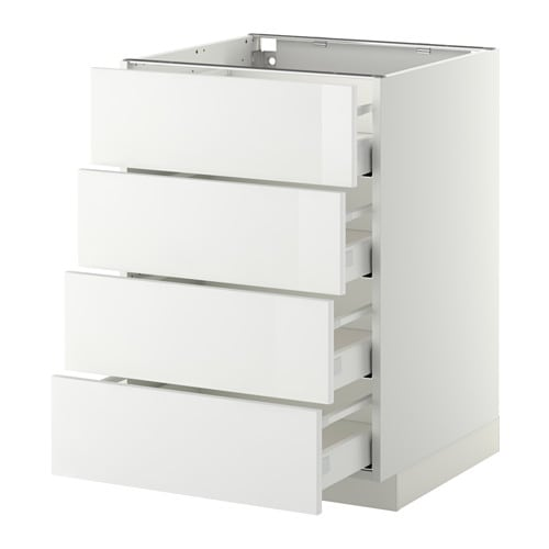 Ikea Metod Maximera Base Cab 4 Frnts Drawers Smooth Running With
