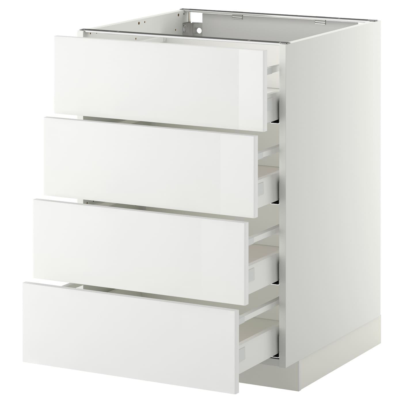 metod maximera base cab 4 frnts 4 drawers white ringhult white 60x60 cm ikea. Black Bedroom Furniture Sets. Home Design Ideas