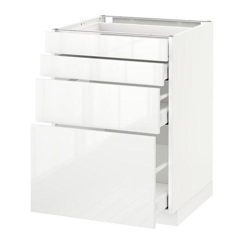 metod maximera base cab 4 frnts 4 drawers white ringhult white 60x60 cm ikea. Black Bedroom Furniture Sets. Home Design Ideas
