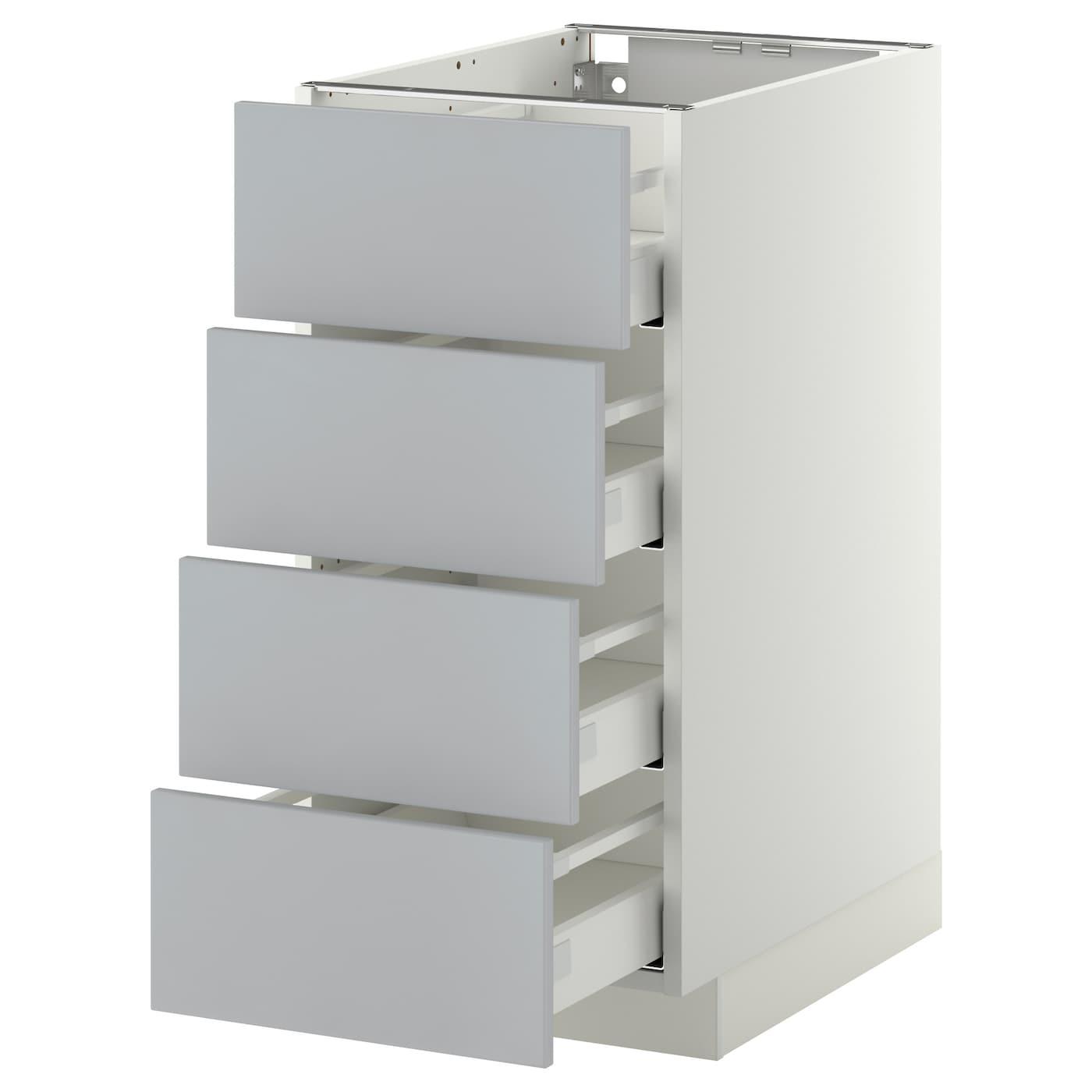 metod maximera base cab 4 frnts 4 drawers white veddinge grey 40x60 cm ikea. Black Bedroom Furniture Sets. Home Design Ideas