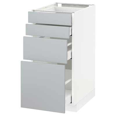 METOD / MAXIMERA Base cab 4 frnts/4 drawers, white/Veddinge grey, 40x60 cm