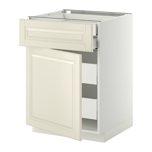 METOD/MAXIMERA Base cab dr/front/2 low/2 md drwrs IKEA The drawers close slowly, quietly and softly thanks to the built-in dampers.