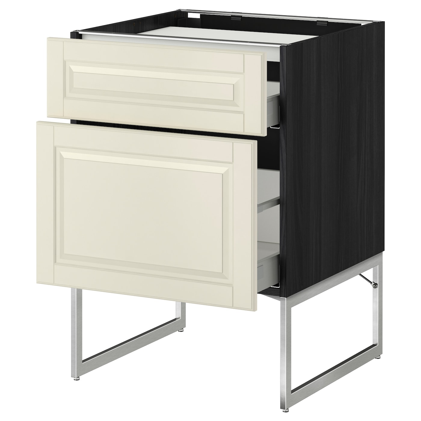 IKEA METOD/MAXIMERA base cab f hob/2 fronts/2 drawers Smooth-running drawers with stop.