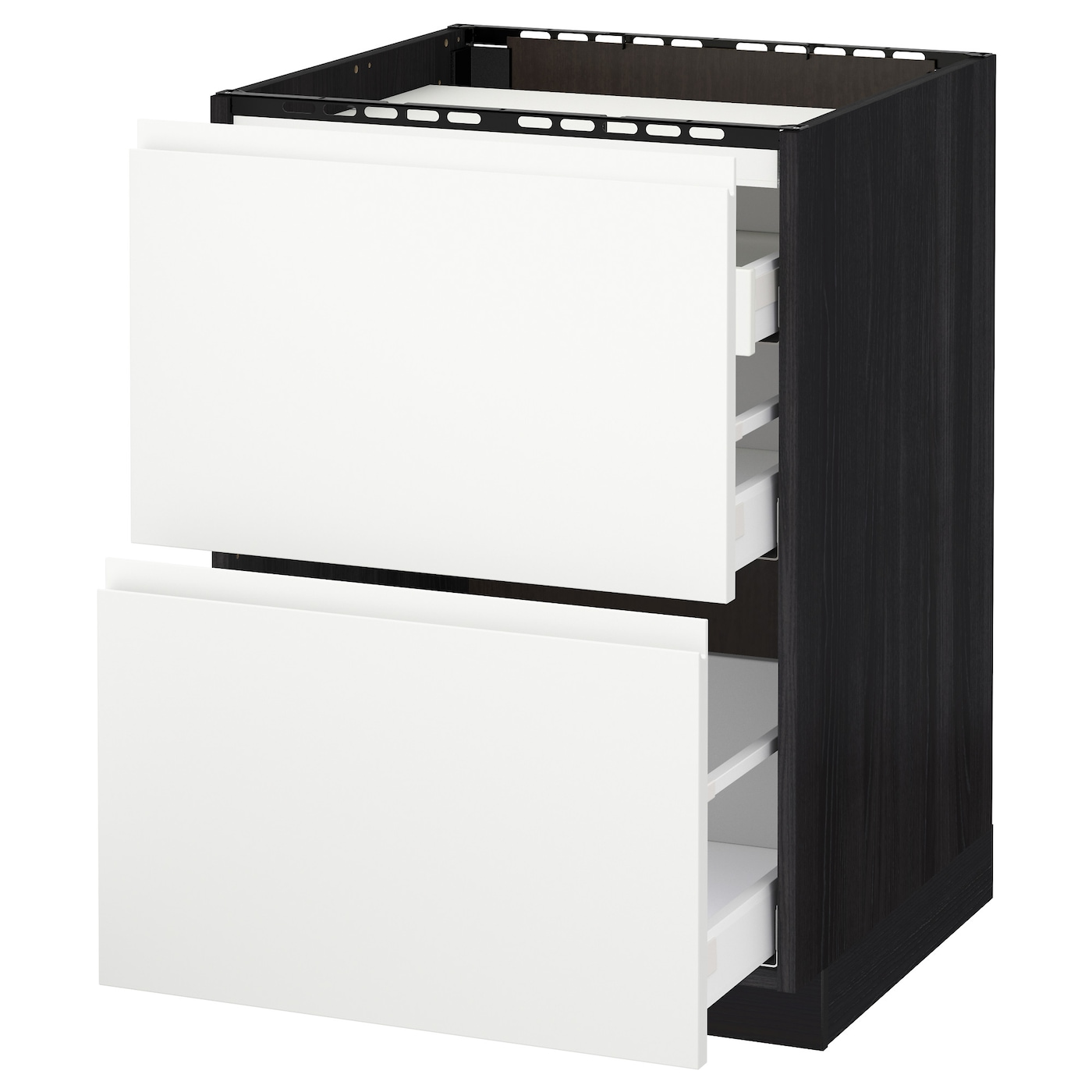 IKEA METOD/MAXIMERA base cab f hob/2 fronts/3 drawers Smooth-running drawers with stop.