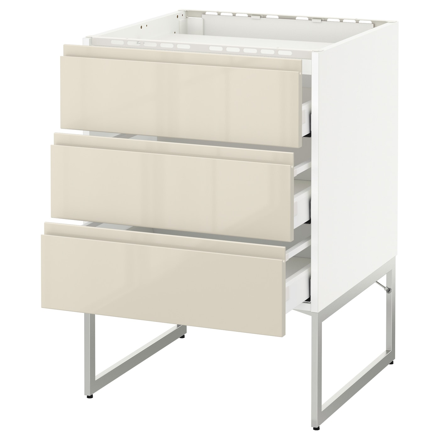 IKEA METOD/MAXIMERA base cab f hob/3 fronts/3 drawers Smooth-running drawers with stop.