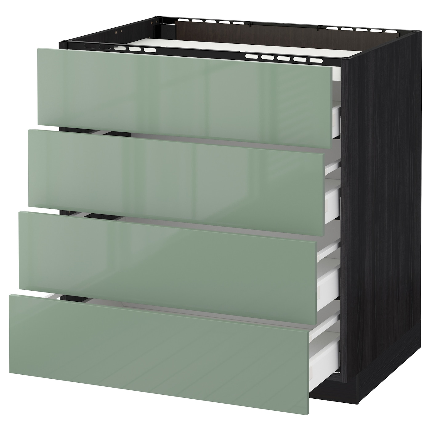 IKEA METOD/MAXIMERA base cab f hob/4 fronts/4 drawers Smooth-running drawers with stop.