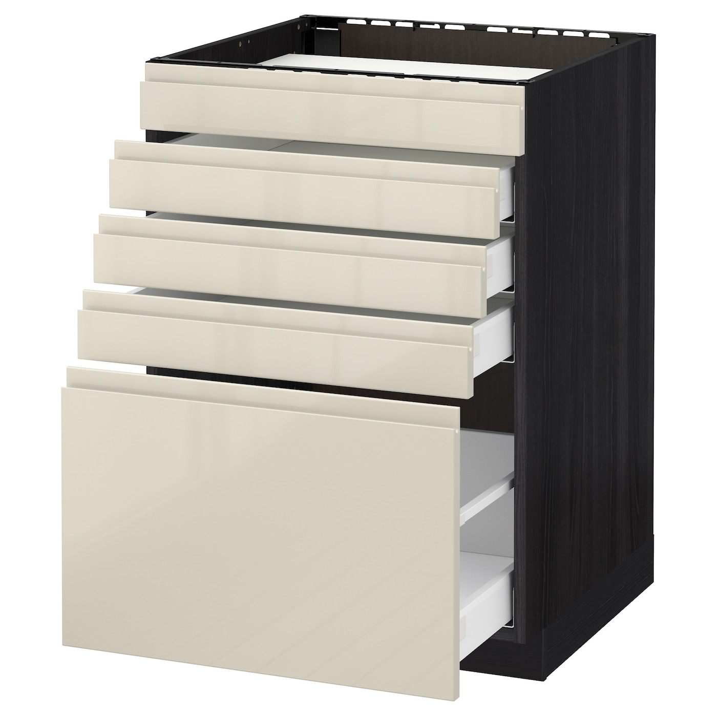 IKEA METOD/MAXIMERA base cab f hob/5 fronts/4 drawers Smooth-running drawers with stop.